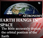 ASTRONOMY – EARTH HANGS IN SPACE