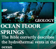 GEOLOGY – OCEAN FLOOR SPRINGS